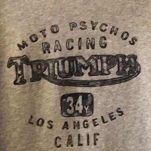 Lucky Brand Moto Psychos Triumph racing sweatshirt